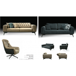 Showy Sofa Set 3+3+1
