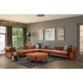 Chester corner sofa set quilted